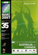 AUSTRALIA v CANADA RUGBY WORLD CUP 2007 PROGRAMME - MATCH no35