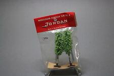 V752 Jordan Ho train rare decor arbre peuplier 80 mm 2 u années 70 Diorama