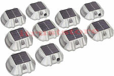 10 Pack Solar LED Pathway Driveway Lights Dock Path Step Road Safety Markers
