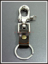 LEATHER & KEY CHAIN Carabiner Boat Anchor Snap Shackle Swivel Key ring  #110