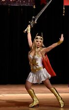 Womens Princess She-Ra Fancy Complete Costume 2 dresses Halloween Cosplay He-man
