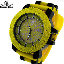 New Captain Bling Hip Hop Mens 58 MM Silicone Band With Bullet Wrist Watch W1921