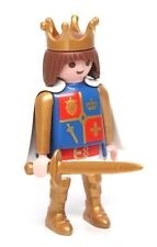 Playmobil Figure Custom Castle Young Prince Knight w/ Crown Cape Sword 6000
