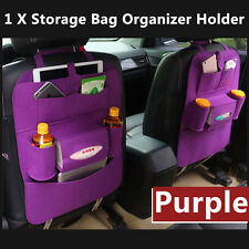Auto Car Seat Back Multi-Pocket Storage Bag Organizer Holder Accessory Purple