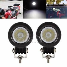 2x 10W Cree LED Work Light Flood Offroad Driving Fog Lamp Motorcycle 4WD 12V 24V