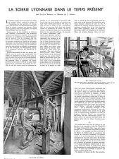 LYON LA SOIERIE LYONNAISE DESSINS JOSE SIMONT ADP DE JACQUES SORBETS 1940
