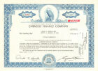 Carnegie Finance Company 1972 Ohio stock certificate share