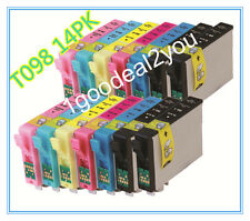 14 PK Ink For Epson 98 99 T098 For Artisan 800 810 835 837 700 710 725 730