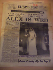 OLD VINTAGE NEWSPAPER 1960s BRISTOL EVE POST 24 april 1963 princess alexandra