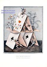 Kartenhaus XL Kunstdruck 1933 von Alfred Hagel * Wien Leben Engel Teufel Liebe +