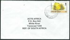 SWAZILAND 2000 cover 1e Butterfly, Piggs Peak cds..........................43415