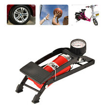 Foot Air Pump tires inflater Pressure Gauge For Car Bicycle High quality  QP0010