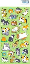 Cute Kawaii Japanese Neko Cat Illustration Stickers For Diary Planner Stationery