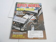 OCT 2001 OPEN WHEEL vintage car racing magazine