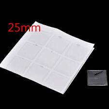 180 Clear Square Epoxy Domes Resin Stickers Photo Craft Jewelry Findings 25mm