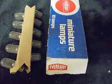 (10) VINTAGE EVEREADY MINIATURE LAMPS BULBS 1893 14  VOLTS