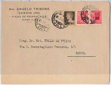 47281 - ITALIA RSI: storia postale - MONUMENTI DISTRUTTI su BUSTA con REGNO 1945
