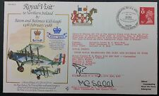 Royal Visit Series RV3 Flown & Signed Royal Visit to Northern Ireland Cover