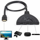 3 Port 1080P HDMI AUTO Switch Splitter Switcher HUB Box Cable for DVD HDTV STB L