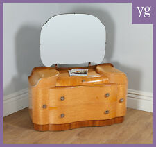 Antique Art Deco Style Birds Eye Maple Mirror Dressing Table Chest of Drawers