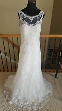 NEW! $1570 Maggie Sottero Verina Marie Ivory Lace Wedding Dress Size 12
