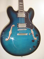 New Stedman Pro 6 String Semi  Hollow Body Electric Guitar  Blue  Memphis Jazz