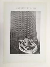 MAURICE TABARD,NEW YORK IN MY BOAT,1947-48, AUTHENTIC 1986 ART PHOTO PRINT