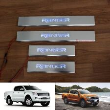 4DOORS LED SILL SCUFF PLATE STAINLESS STEEL FOR FORD RANGER XLT PX T6 2012-2017