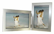 "2 Picture Silver Colour Photo Picture Frame - 6 x 4"" Multi Picture Frame"