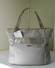 Kipling Work TM5298 Dune Beige Patent Leah Tote Carry All