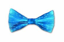 Fiber Optic Color Changing Light Up Glow Bow Tie W/ Strap Electric White Party