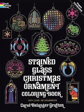 Stained Glass Christmas Ornament Coloring Book by Carol Belanger Grafton  1975