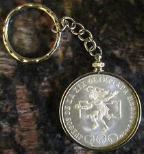 1968 Olympic Mexican Silver Coin .720. 25 Pesos KEY CHAIN.