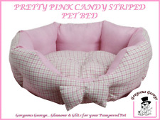 NEW Small pink check dog puppy cat kitten pet bed - only £9.99 - fully washable