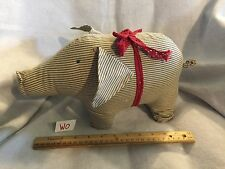 Maileg Original Pig Fabric Stuffed Animal Toy Danish Designer GUC