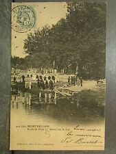 cpa 34 montpellier ecole de pont 2e genie sur le lez militaire