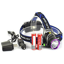5000LM XM-L T6 LED Rechargeable Headlight Head Lamp + 2Pcs 18650 + Charger