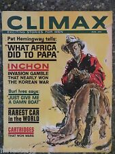 Climax Magazine  August 1962  Rarest Car  GREAT VINTAGE ADS  Korean War