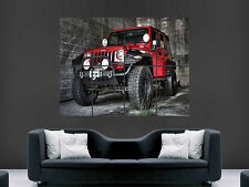 JEEP WRANGLER RUBICON 4X4 CAR  GIANT WALL POSTER ART PICTURE PRINT LARGE HUGE