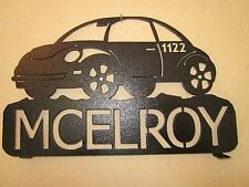 CUSTOM OFF ROAD VW (YOUR NAME) STEEL MAILBOX TOPPER BLACK POWDER COAT