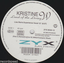 """★★ 12"""" Maxi - KRISTINE W - Land Of The Living - 12"""" Vocal  8:07"""