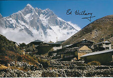 Sir Edmund Ed HILLARY SIGNED Autograph Photo AFTAL COA EVEREST Himalayan Scene