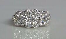 14k White Gold Diamonds  Ring  Endless Flower 2.65 Tcw  Engagement~Anniversary