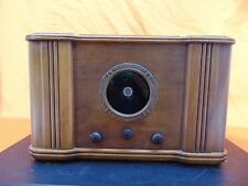 Vintage 1930's HORN Co. 5-A Wood Cabinet TUBE RADIO