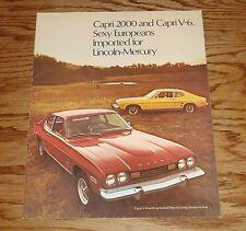 Original 1973 Mercury Capri 2000 & Capri V-6 Sales Brochure 73