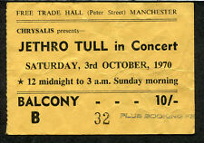 1970 Jethro Tull concert ticket stub Benefit Tour Manchester UK Cry You A Song