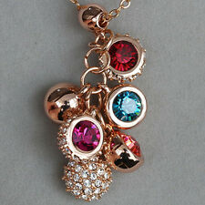 53CT 18K Rose Gold Plated Exquisite Crystal Pendant Necklace New Style MSD1