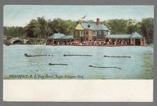 [54952] OLD POSTCARD BOAT HOUSE IN ROGER WILLIAMS PARK, PROVIDENCE, RHODE ISLAND