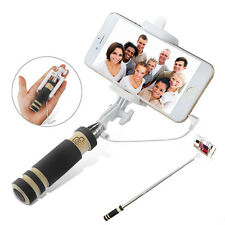 Selfie Stick Stange Stativ Knopf Monopod Selbstauslöser IOS Android Schwarz