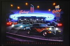 Drive in Galaxy Diner Neon Led Poster Sign Man Cave garage lamp light gift